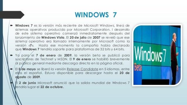 Windows 8  Windows 8 es una versión de Microsoft Windows, línea de sistemas operativos desarrollada por Microsoft para su...