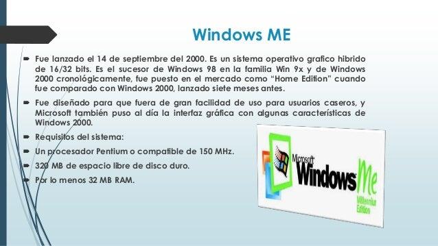 Windows XP  Windows XP se lanzó al mercado el 25 de octubre de 2001. En XP se introdujeron algunas características que me...