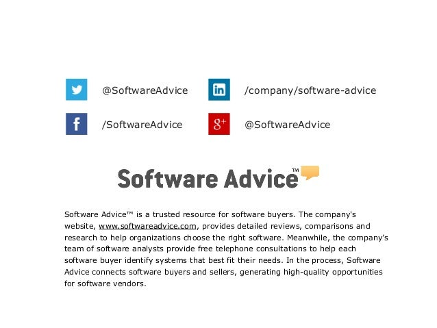 Software Advice™ is a trusted resource for software buyers. The company's website, www.softwareadvice.com, provides detail...