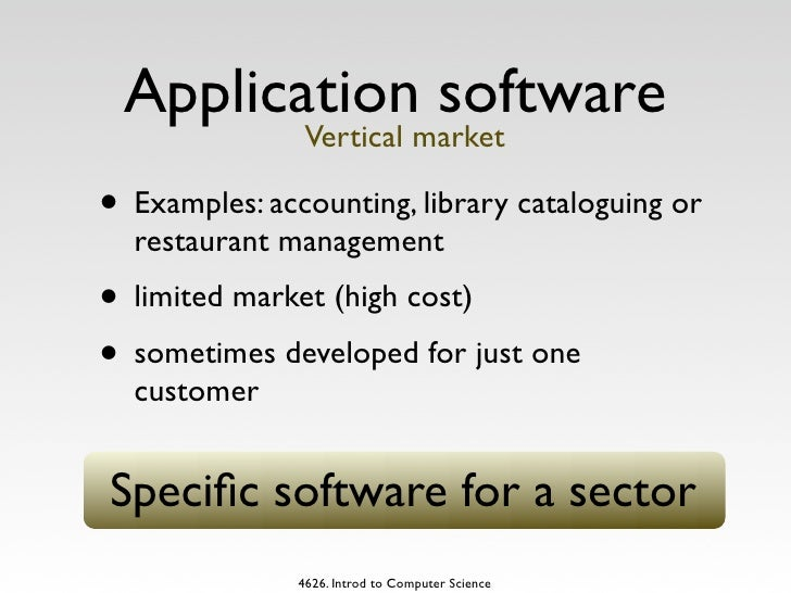 Application software performs a specific job or task. Helps people.