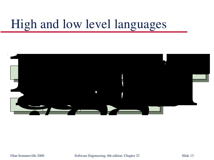 High and low level languages
