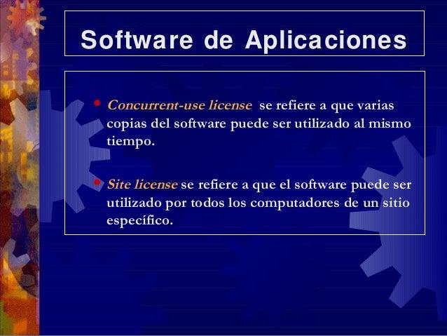 software de aplicacion Otro tipo de software para gráfico son las aplicaciones para presentaciones de gráficos con este se crean gráficas y tabla a color y de calidad profesional basados en datos numéricos de otro programa (hoja de cálculo.