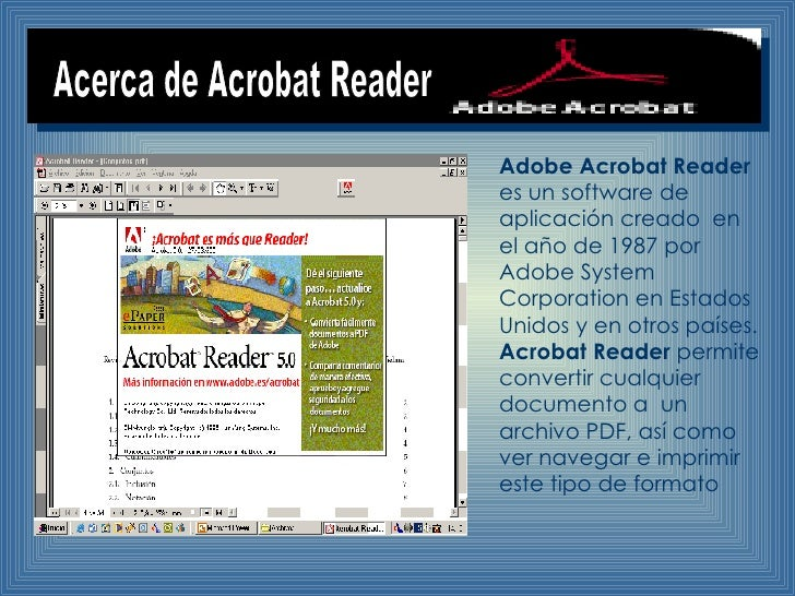 software de aplicacion adobe reader