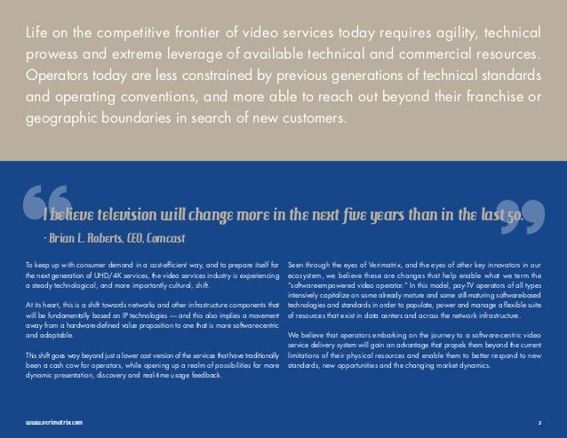 The Rise of the Software-Empowered Video Operator: Executive E-Book Slide 2