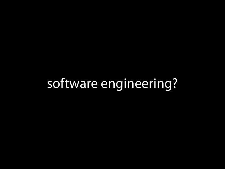 software engineering?