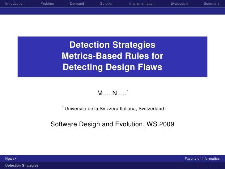 Introduction           Problem      Demand           Solution       Implementation     Evaluation         Summary         ...