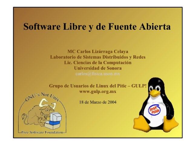 Software Libre y de Fuente Abierta