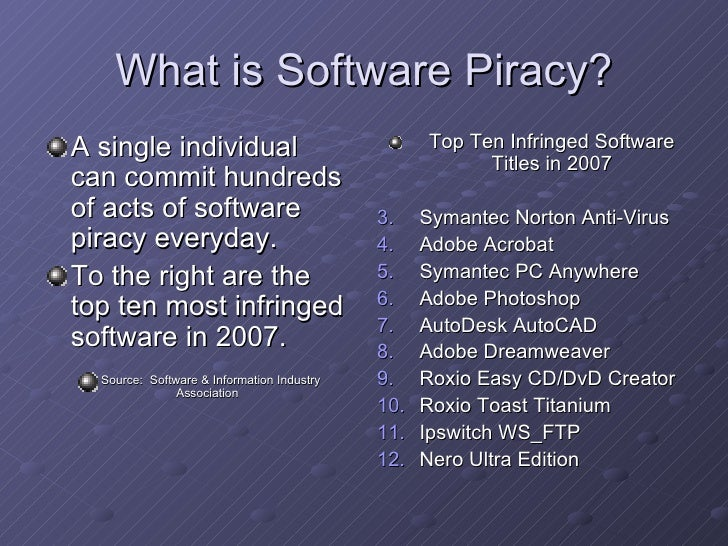 a history of software piracy Piracy is an act of robbery  corsairs in the mediterranean equaled or outnumbered the former at any given point in history mediterranean piracy was conducted.