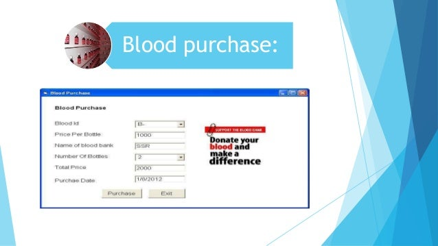 blood donation srs Blood bank user manual software requirements specifications general  each donation attempt (ie, whole blood  blood bank user manual srs# functionality description.