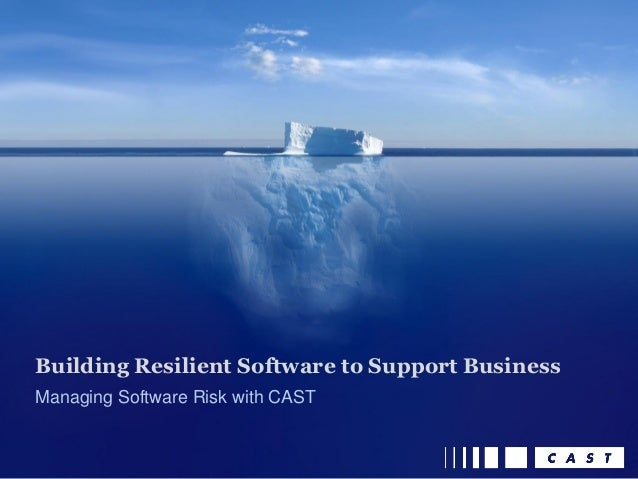 Managing Software Risk with CAST Building Resilient Software to Support Business