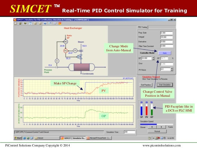 SIMCET: Real-time PID control simulator for training