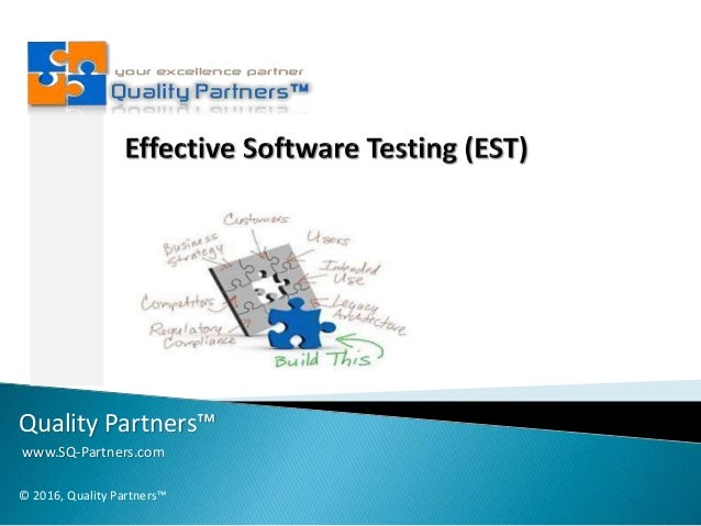 Quality Partners™ www.SQ-Partners.com © 2016, Quality Partners™