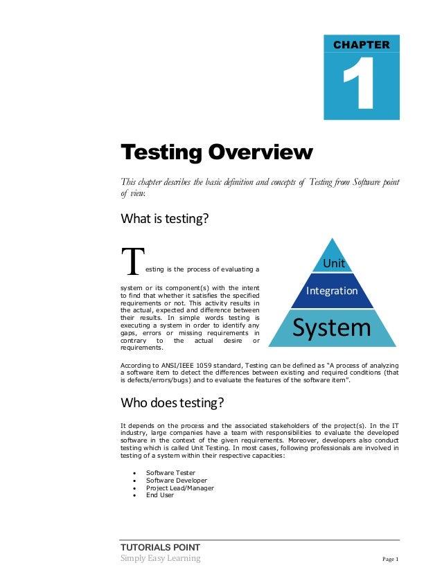 Testing Tutorial Pdf