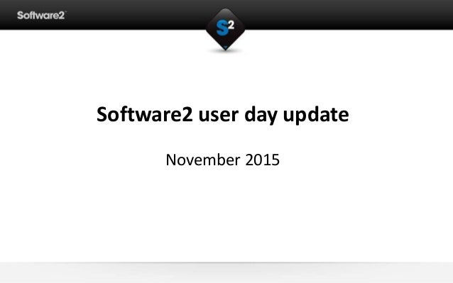 Software2 user day, update, university big data
