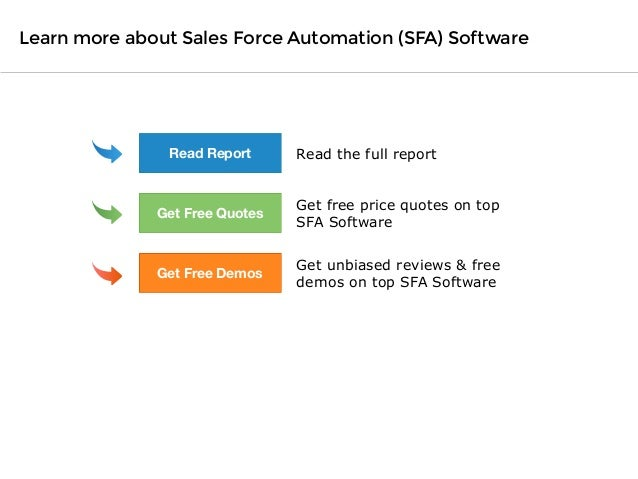 Software Advice BuyerView: Sales Force Automation Report 2014