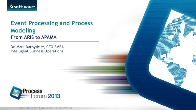 Event Processing and Process Modeling From ARIS to APAMA Dr. Mark Darbyshire, CTO EMEA Intelligent Business Operations  | ...