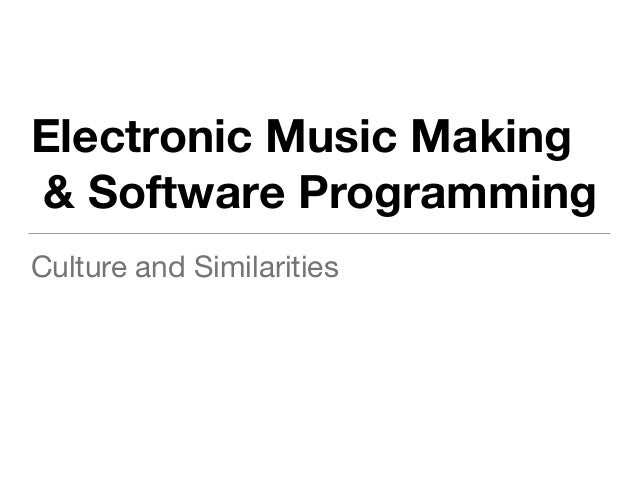 Electronic Music and Software Craftsmanship: analogue