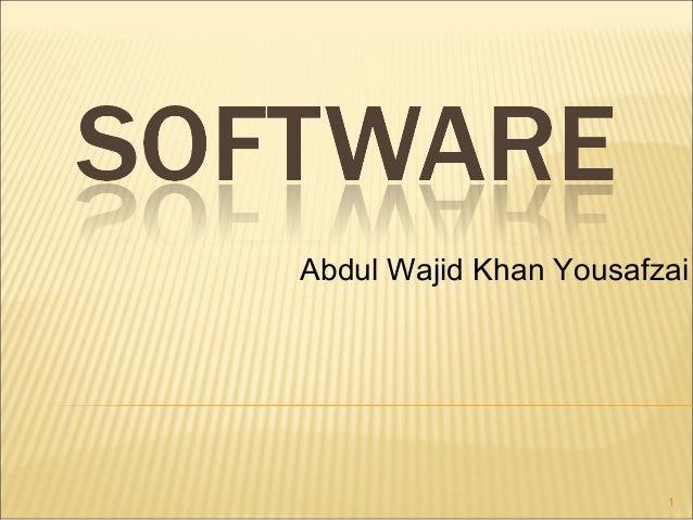 Abdul Wajid Khan Yousafzai  1