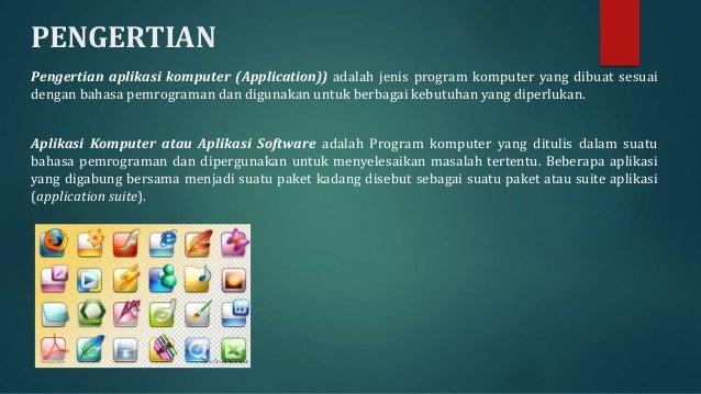 Software Aplikasi Komputer