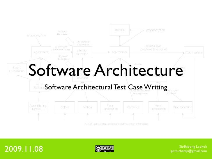 Software Architecture              Software Architectural Test Case Writing     2009.11.08                                ...
