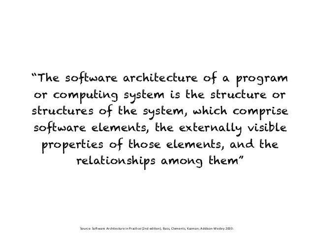 Software Architecture: Principles, Patterns and Practices