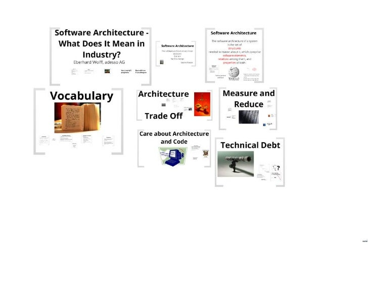 Software Architecture - What Does It Mean in Industry