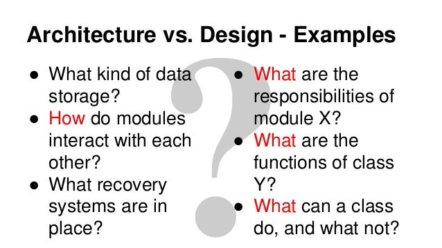 Software Architecture And Design An Overview