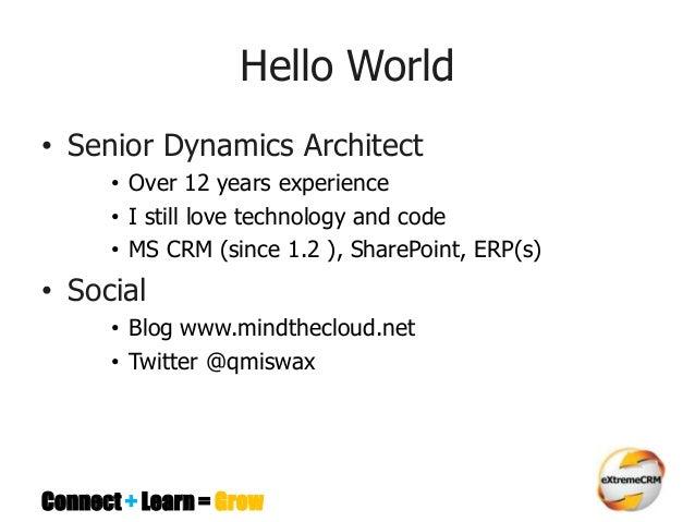 Software architecture & design patterns for MS CRM  Developers  Slide 2