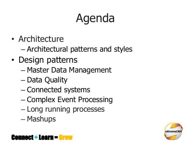 Software architecture & design patterns for MS CRM  Developers  Slide 3