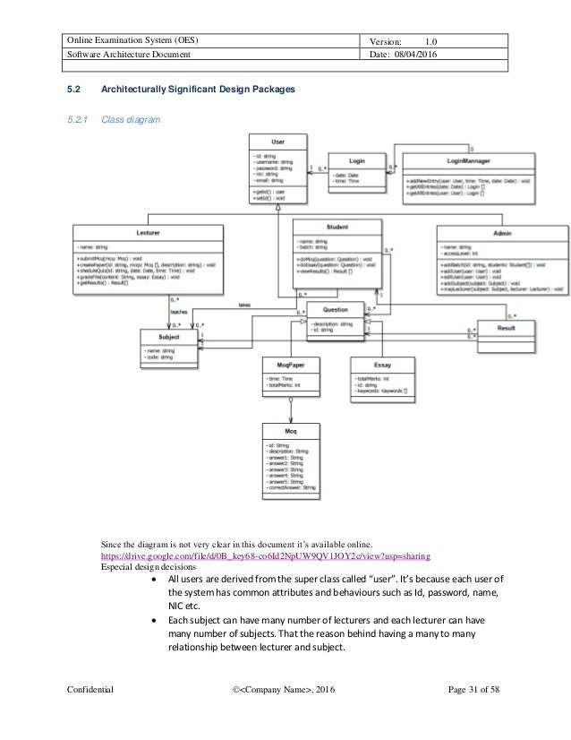 Sample Software Architecture Document