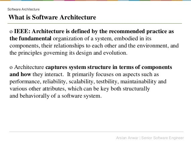 Software Architecture Vs Design