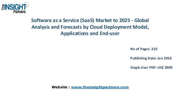 Software as a Service (SaaS) Market to 2025 - Global Analysis and Forecasts by Cloud Deployment Model, Applications and En...