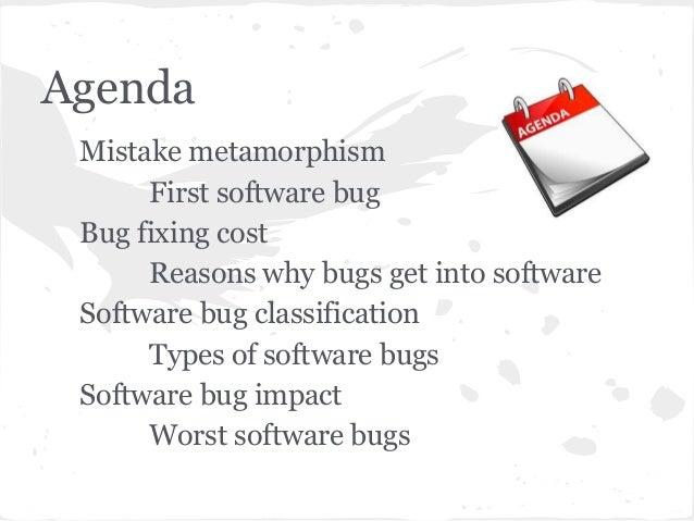Software bugs Slide 2