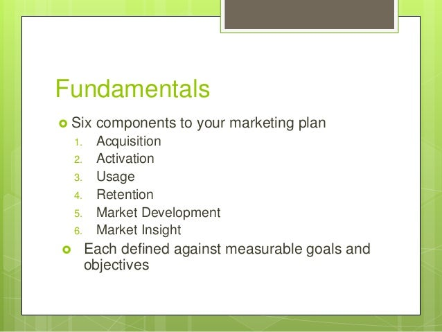 Software Company Marketing Plan Outline