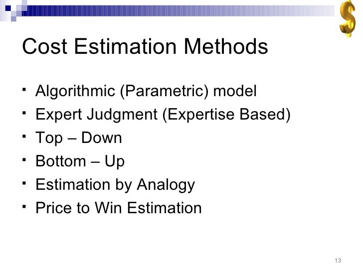 thesis on software cost estimation Abstract neural network-based cost estlmatlng lnes siqueira this thesis presents a neural network-based cost estimating method developed for the generation of.