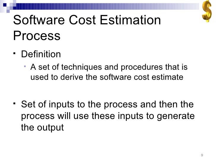 what is software cost estimation
