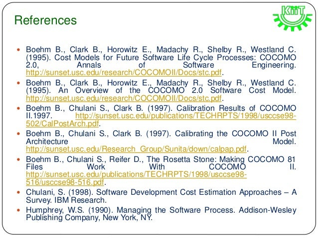 thesis on software cost estimation Appendix c: cost estimating methodologies the cost estimator must select the most appropriate cost estimating methodology software development.