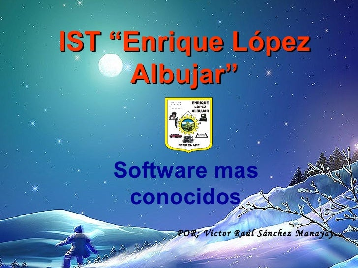 "IST ""Enrique López      Albujar""           IN S T IT U T O            S U P E R IO R        T E C N O L Ó G IC O          ..."