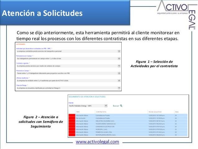 Atención a Solicitudes   Como se dijo anteriormente, esta herramienta permitirá al cliente monitorear en   tiempo real los...