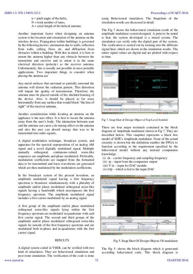 iaetsd Software defined am transmitter using vhdl