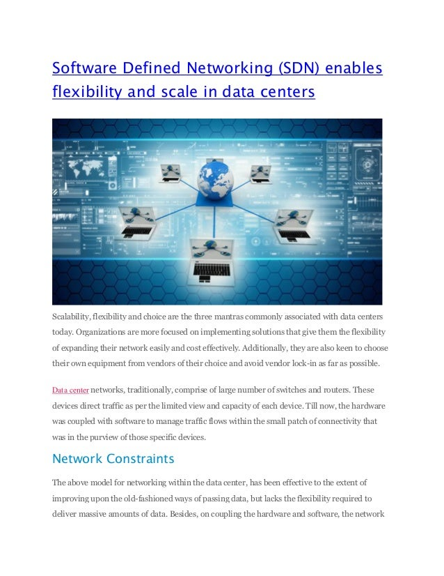 software defined networking thesis Architectural styles and the design of network-based software architectures dissertation is still defined more by the of network-based software.