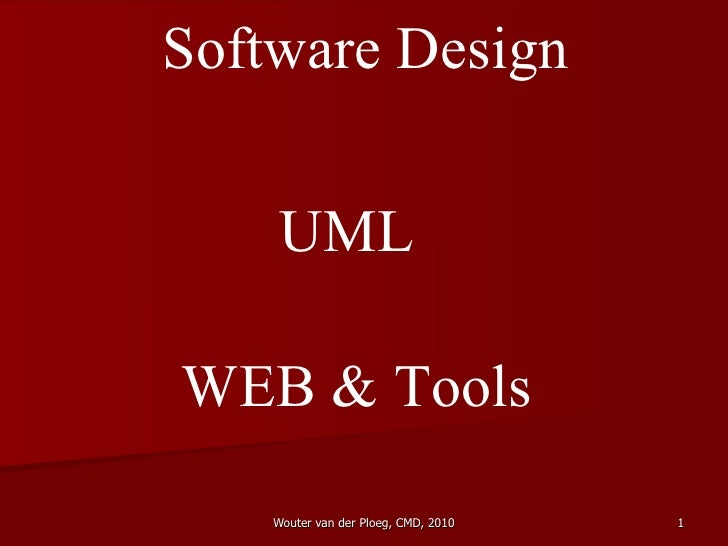 Software Design UML WEB & Tools