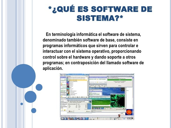 Software de sistema for Que significa hardware