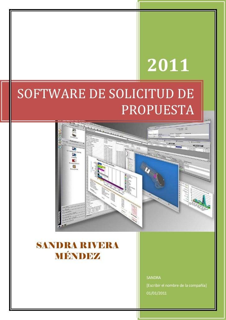 Software de solicitud de propuesta