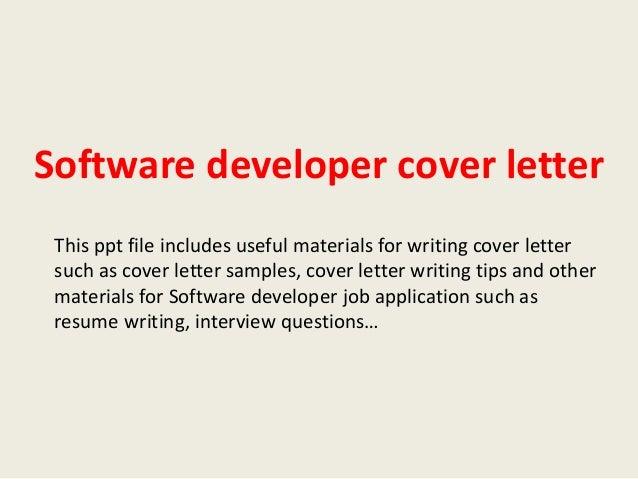 Software developer cover letter