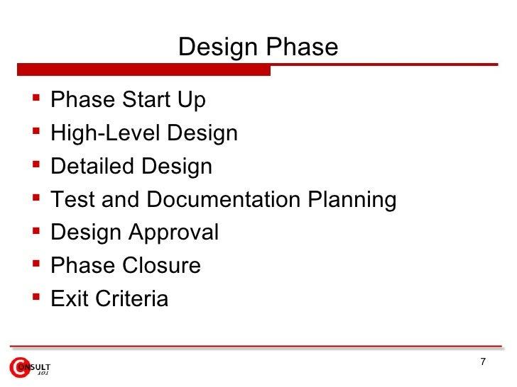 Design Phase    Phase Start Up    High-Level Design    Detailed Design    Test and Documentation Planning    Design A...