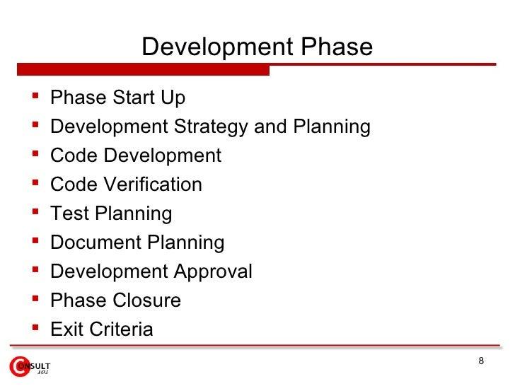 Development Phase    Phase Start Up    Development Strategy and Planning    Code Development    Code Verification    ...