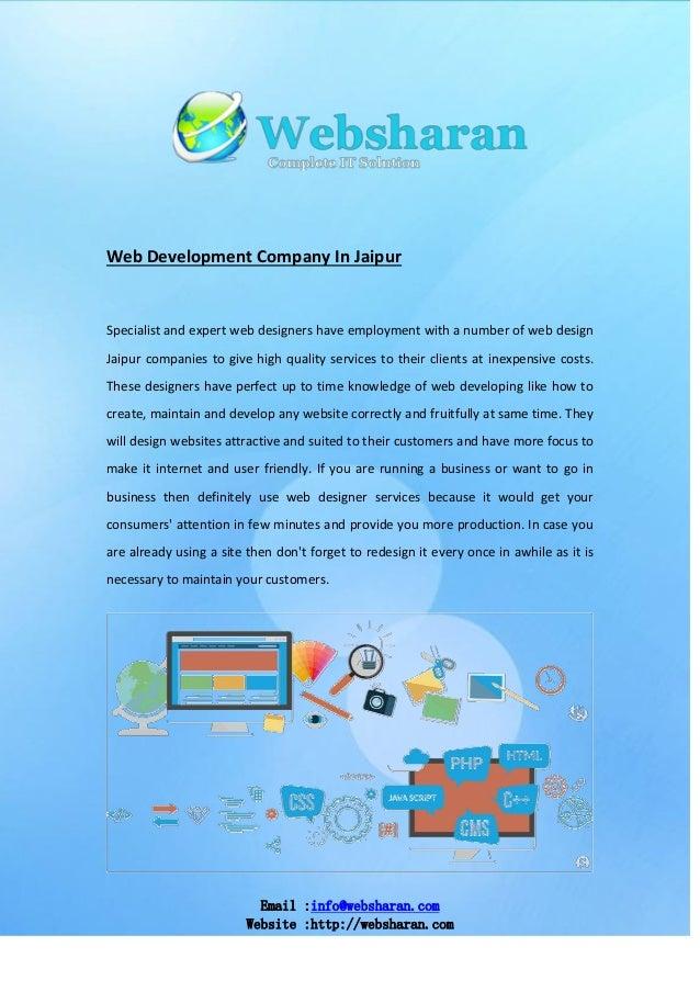 Email :info@websharan.com Website :http://websharan.com Web Development Company In Jaipur Specialist and expert web design...