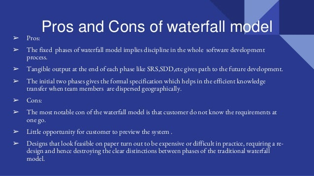Software development lifecycle part21 | title | waterfall model pros and cons