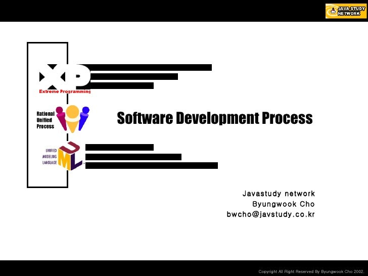 Software Development Process Javastudy network Byungwook Cho [email_address]